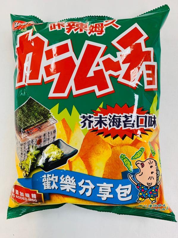 華元.100g湖池屋芥末海苔洋芋片