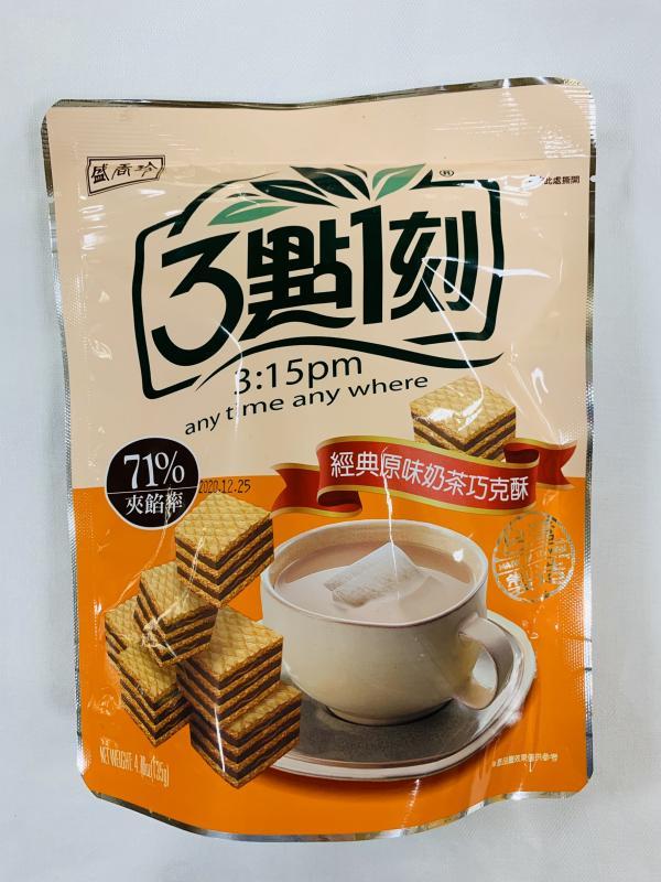 盛香珍.135g3點一刻經典原味奶茶巧克酥