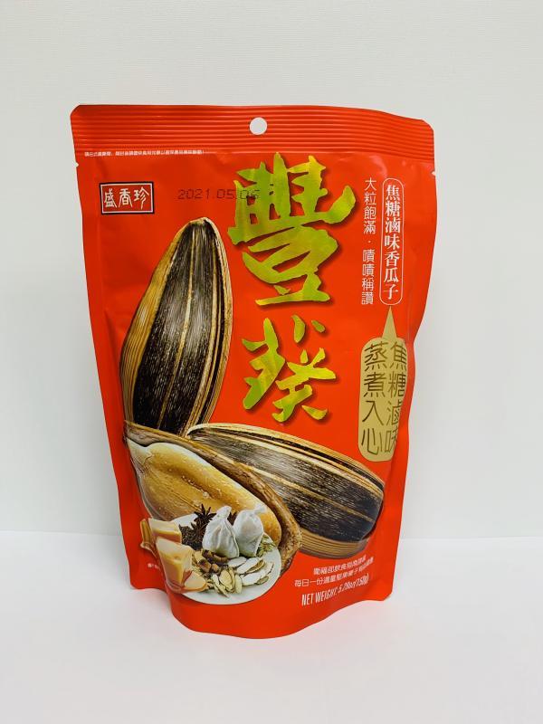 盛香珍.150g(焦糖滷味)豐葵香瓜子