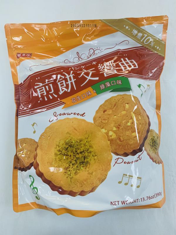 盛香珍.390g煎餅交響曲(花生+綠藻)