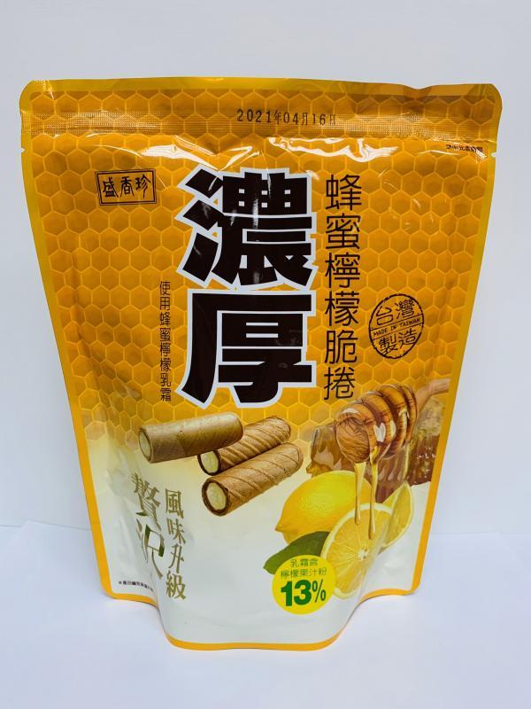 盛香珍.100g濃厚蜂蜜檸檬脆捲
