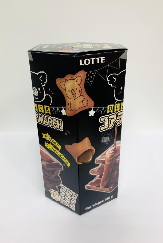 樂天.小熊餅家庭號-濃黑巧克力