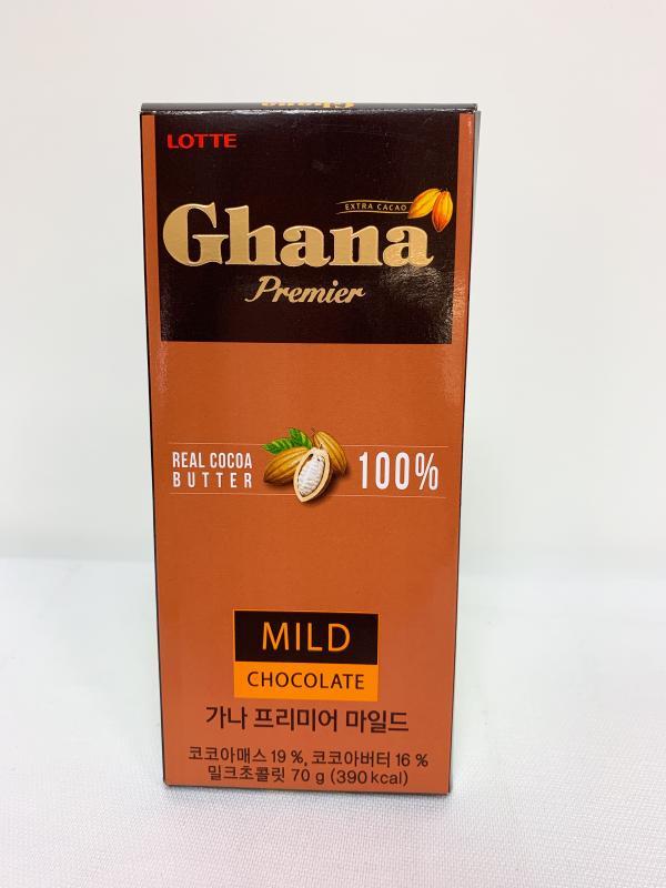 LOTTE 70g加納滑順巧克力