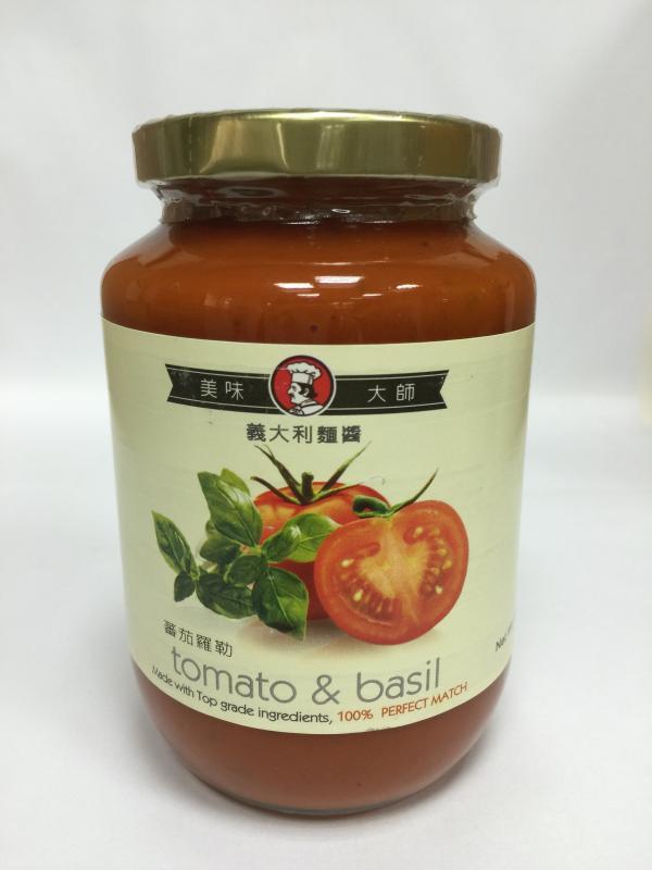 美味大師義大利麵醬-番茄羅勒