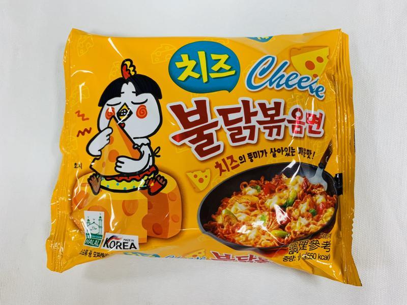 京奇.火辣雞肉(起司)風味鐵板炒麵