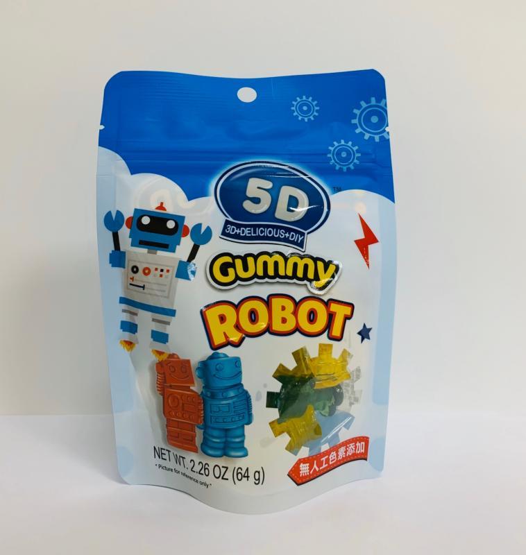 萬陽.64g 5D機器人造型軟糖
