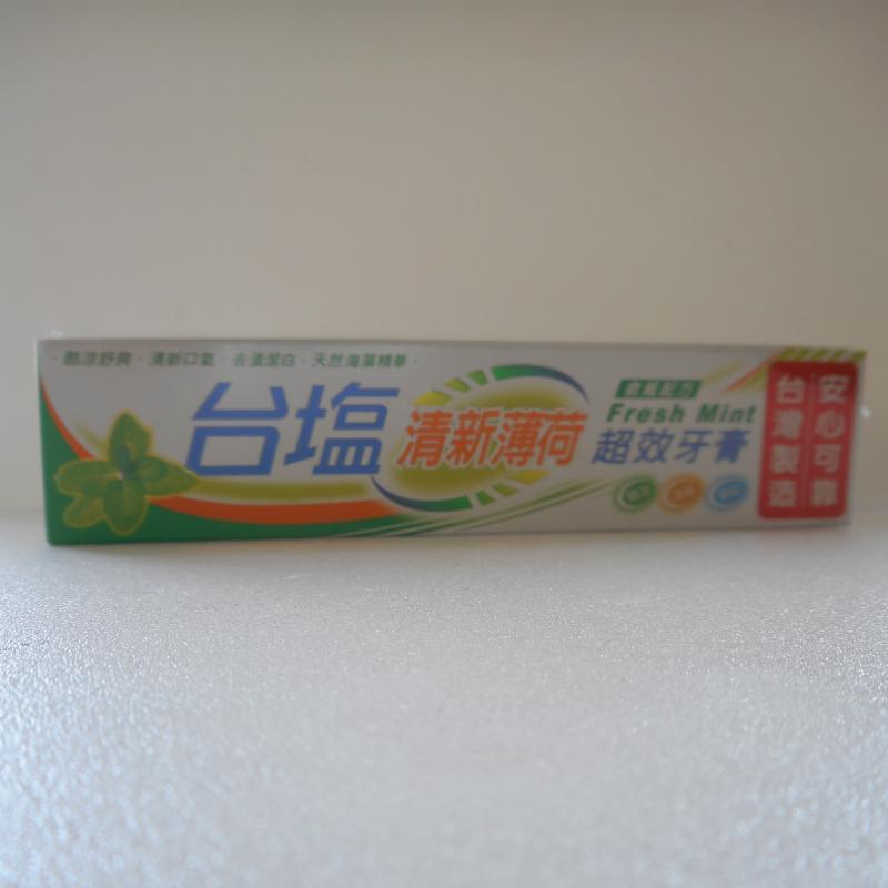 台鹽-清新薄荷超效牙膏+牙刷